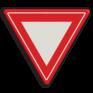 Verkeersbord B06 - Voorrangskruising - verleen voorrang