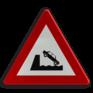 Verkeersbord A11 - Uitweg op een kaai of oever