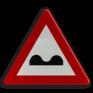 Verkeersbord A13 - Overdwarse uitholling of ezelsrug