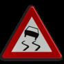 Verkeersbord A15 - Glibberige rijbaan (slipgevaar)