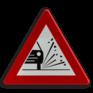 Verkeersbord A17 - Kiezelprojectie