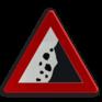 Verkeersbord A19 - Vallende stenen