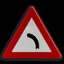Verkeersbord A01a - Gevaarlijke bocht naar links