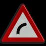 Verkeersbord A01b - Gevaarlijke bocht naar rechts