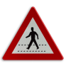 Verkeersbord A21 - Oversteekplaats voor voetgangers