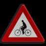 Verkeersbord A25 - Oversteekplaats voor fietsers en bestuurders van bromfietsen
