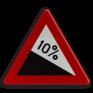 Verkeersbord A03 - Gevaarlijke daling (min. 7%)