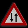 Verkeersbord A39 - Verkeer toegelaten in twee richtingen na een eenrichtingsverkeer
