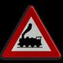 Verkeersbord A43 - Overweg zonder slagbomen