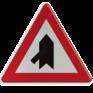 Verkeersbord B15b - Voorrang op aangegeven kruisende weg