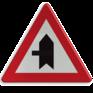 Verkeersbord B15c - Voorrang op aangegeven kruisende weg
