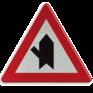 Verkeersbord B15d - Voorrang op aangegeven kruisende weg