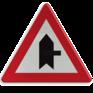 Verkeersbord B15f - Voorrang op aangegeven kruisende weg