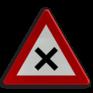 Verkeersbord B17 - Kruispunt waar de voorrang van rechts geldt