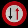Verkeersbord B19 - Smalle doorgang, gebod tegenligger doorgang te verlenen