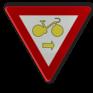 Verkeersbord B22 - Fietsers mogen verkeerslichten voorbijrijden om rechts af te slaan