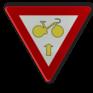 Verkeersbord B23 - Fietsers mogen verkeerslichten voorbijrijden om door te rijden