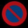 Verkeersbord E01 - Parkeerverbod
