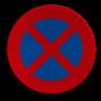 Verkeersbord E03 - Stilstaan en parkeren verboden