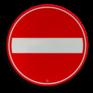 Verkeersbord C02 - Eenrichtingsweg, in deze richting gesloten