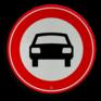 Verkeersbord C06 - Gesloten voor voertuigen