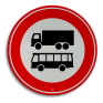 Verkeersbord C07b - Gesloten voor vrachtauto's en bussen