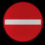 Verkeersbord C01 - Verboden richting voor iedere bestuurder