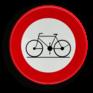 Verkeersbord C11 - Verboden toegang voor bestuurders van rijwielen