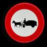 Verkeersbord C13 - Verboden toegang voor bestuurders van gespannen