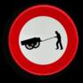 Verkeersbord C17 - Verboden toegang voor bestuurders van handkarren