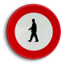 Verkeersbord C19 - Verboden toegang voor voetgangers