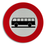 Verkeersbord C22 - Verboden toegang voor autocars