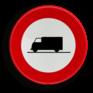 Verkeersbord C23 - Verboden toegang voor bestuurders van transportvoertuigen