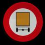Verkeersbord C24a - Verboden toegang voor voertuigen die gevaarlijke goederen vervoeren