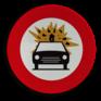 Verkeersbord C24b - Verboden voor voertuigen met ontvlambare/ontplofbare stoffen