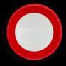 Verkeersbord C03 - Verboden toegang, in beide richtingen, voor iedere bestuurder