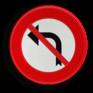 Verkeersbord C31g - Verbod af te slaan in de richting van de pijl