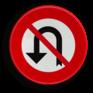 Verkeersbord C33 - Verbod om te keren