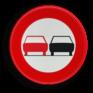 Verkeersbord C35 - Verbod een voertuig links in te halen