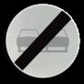 Verkeersbord C37 - Einde verbod opgelegd door het verkeersbord C35