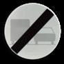 Verkeersbord C41 - Einde verbod opgelegd door het verkeersbord C39