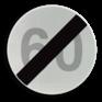 Verkeersbord C45 - Einde van de snelheidsbeperking opgelegd door het verkeersbord C43