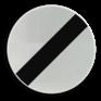 Verkeersbord C46 - Einde verbodsbepalingen opgelegd aan de voertuigen