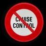 Verkeersbord C48 - Verbod de cruise control te gebruiken