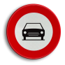 Verkeersbord C05 - Verboden toegang voor bestuurders van motorvoertuigen