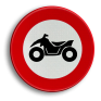 Verkeersbord C06 - Verboden toegang voor bestuurders van motorfietsen