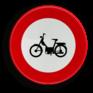Verkeersbord C09 - Verboden toegang voor bestuurders van bromfietsen