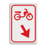 Verkeersbord D103 - Bromfietsers moeten hier van rijbaan verwisselen