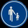 Verkeersbord D11 - Verplichte weg voor voetgangers