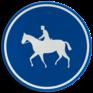 Verkeersbord D13 - Verplichte weg voor ruiters